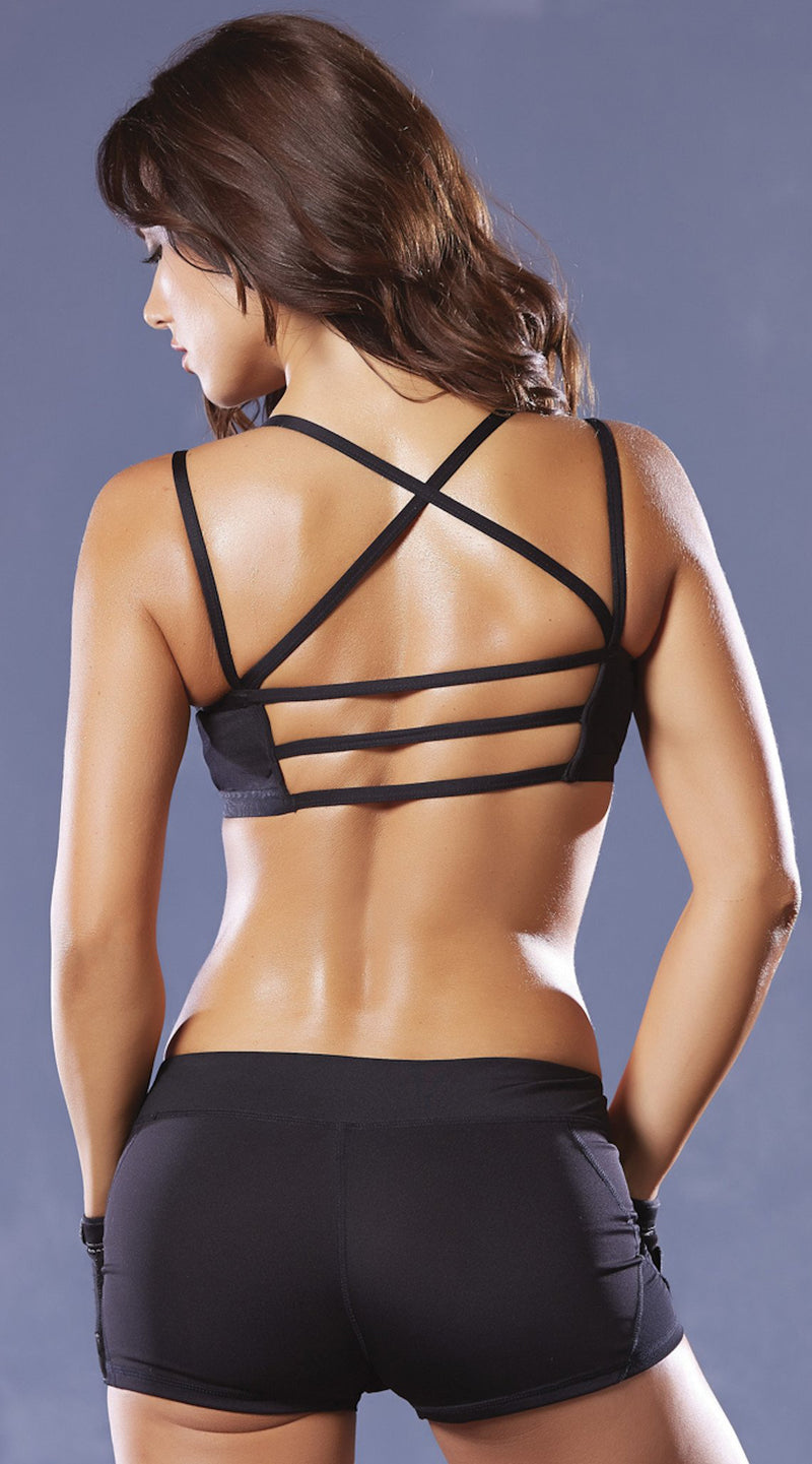 Strike Microfiber Strappy Sports Bra