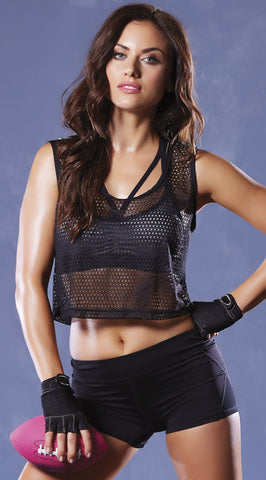 Strike Athletic Fishnet Crop Tank