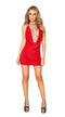 One Piece Cowl Neck Red Mini Dress