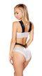 Hologram Monokini with Square Ring Detail
