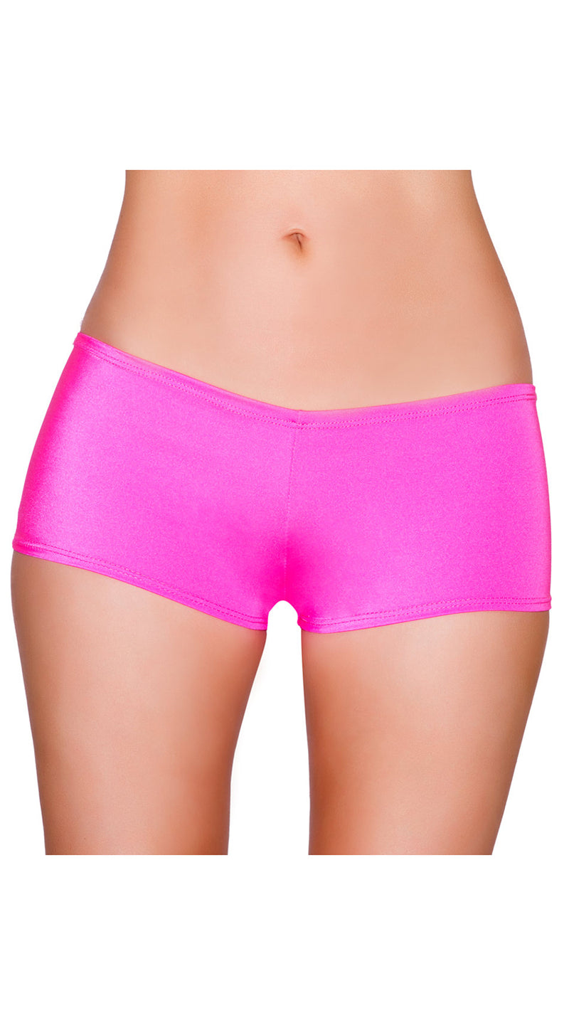 Hot Pink Low Cut Full Covered Shorts