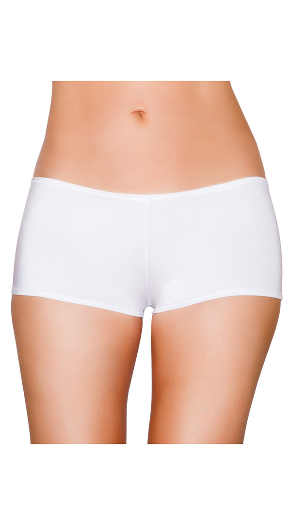 White Low Cut Full Covered Shorts