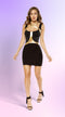Mini Dress with Gold Strapped Holster Detail