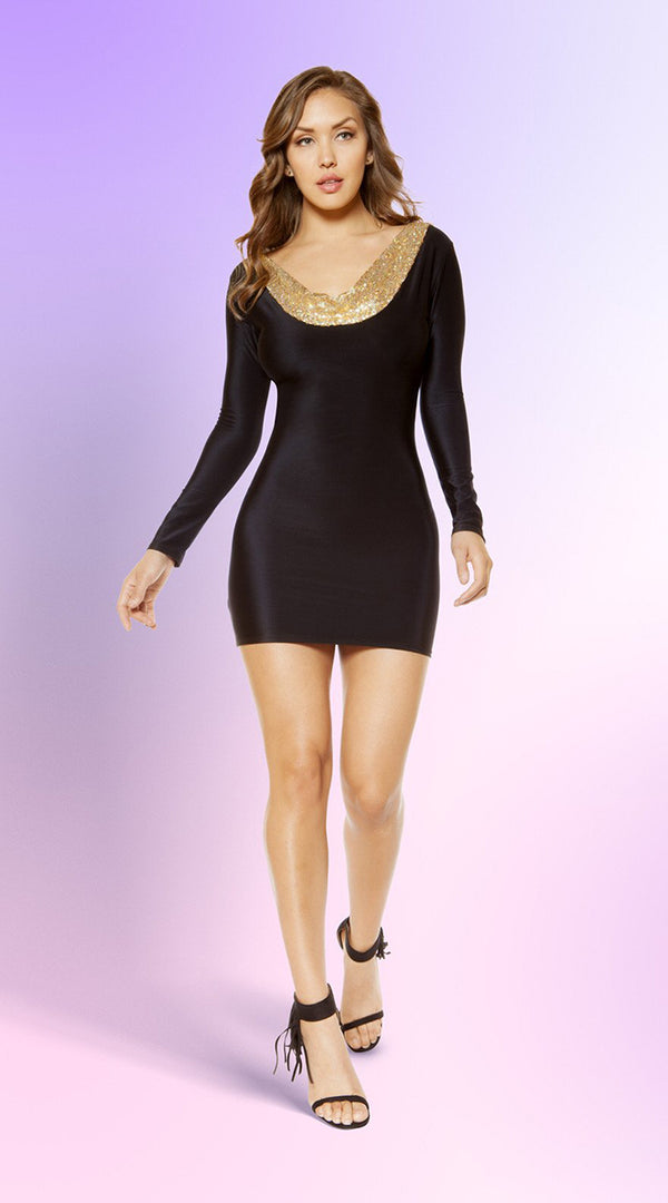 Bodycon Mini Dress with Open Back Design