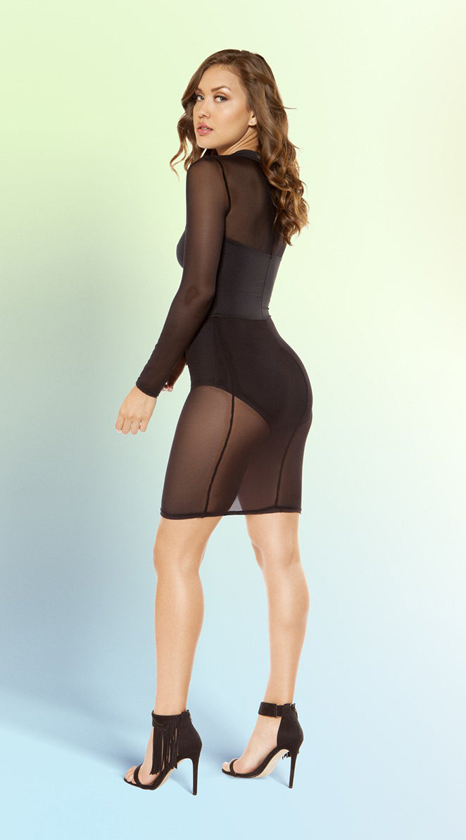 Long-Sleeved Cutout Dress
