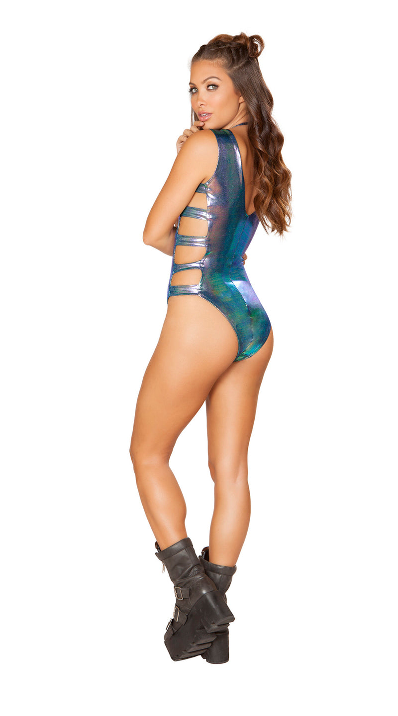 One Piece Shimmer Strappy & Lace-up Romper