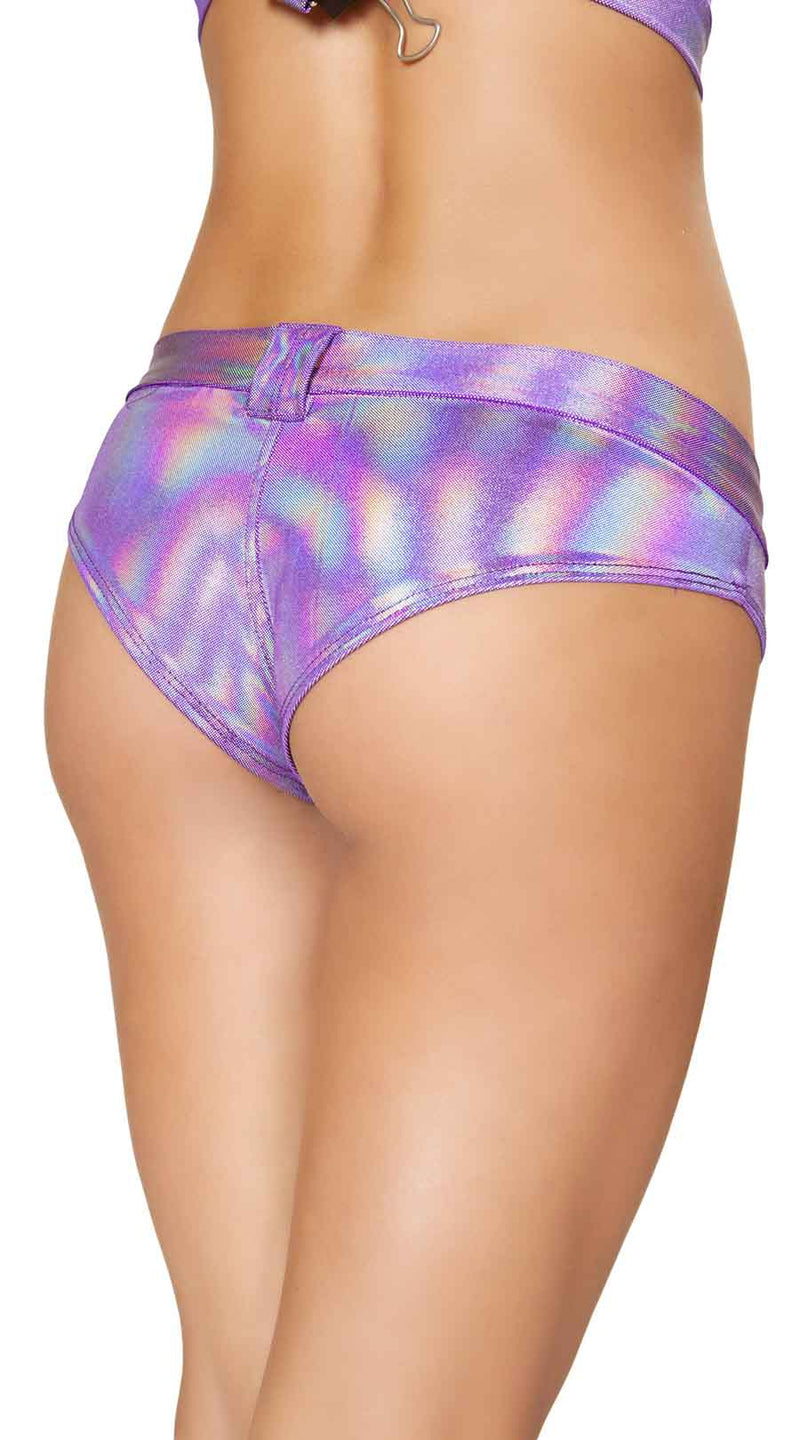 One Piece Mini Booty Shorts with Belt Loop and Buckle Front Detail
