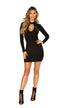 Black Long Sleeve Mini Dress with Cutout Detail