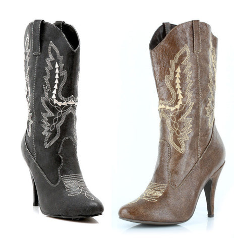 4 Inch Heel Ankle Cowgirl Boot