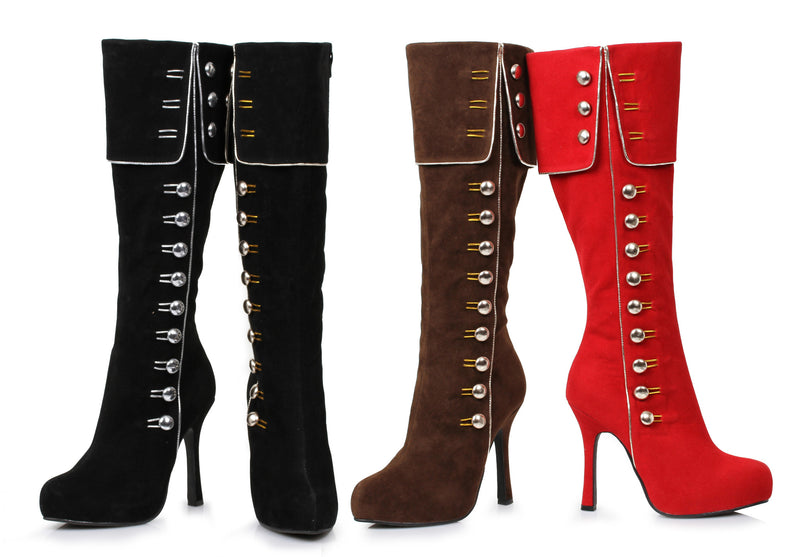 4 Inch Heel Knee High Boot Elda Model - ElegantStripper
