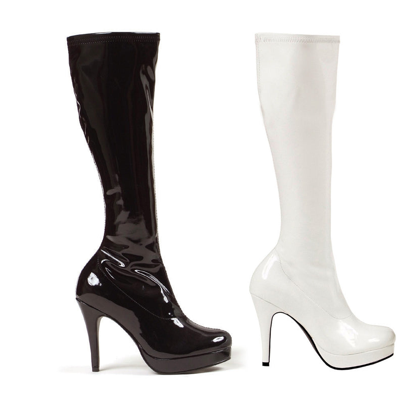 4 Inch Heel Knee High Gogo Boot with Zipper - ElegantStripper