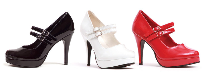 4 Inch Heel Double Strap Mary Jane - ElegantStripper