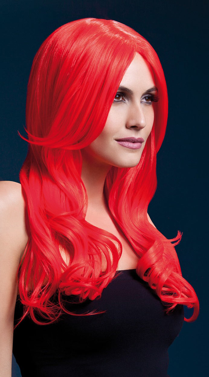 Khloe Wig Neon Red