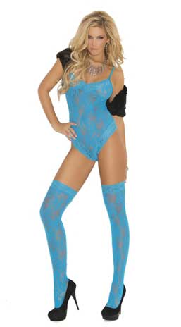 Lace Teddy With Matching Thigh Highs
