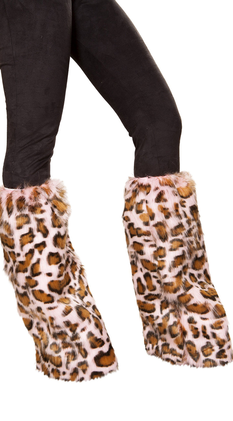 Pair of Pink Leopard Leg Warmers