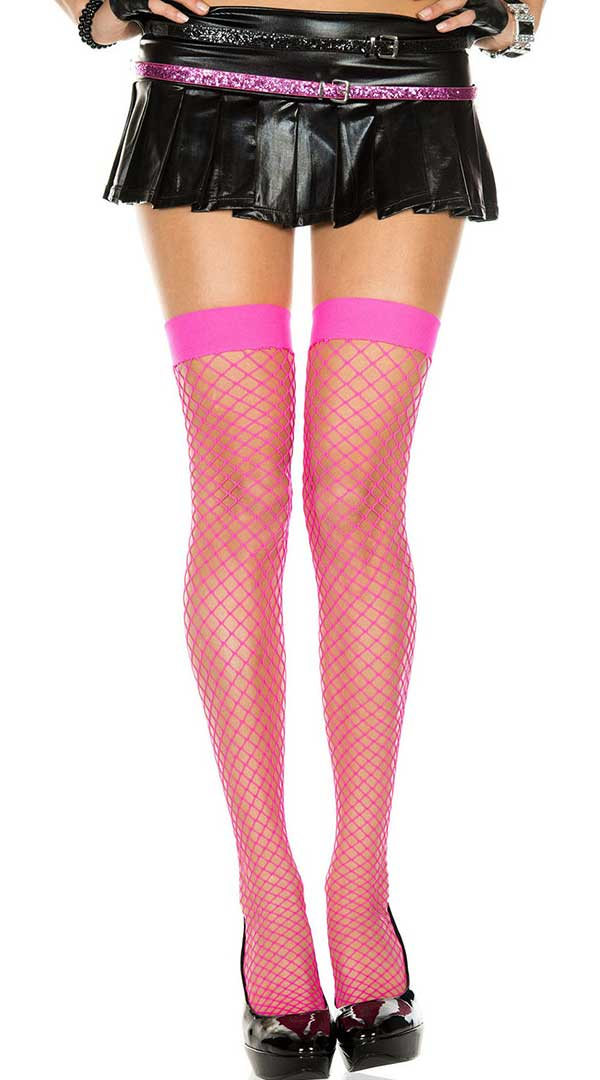 Mini Diamond Net Thigh High