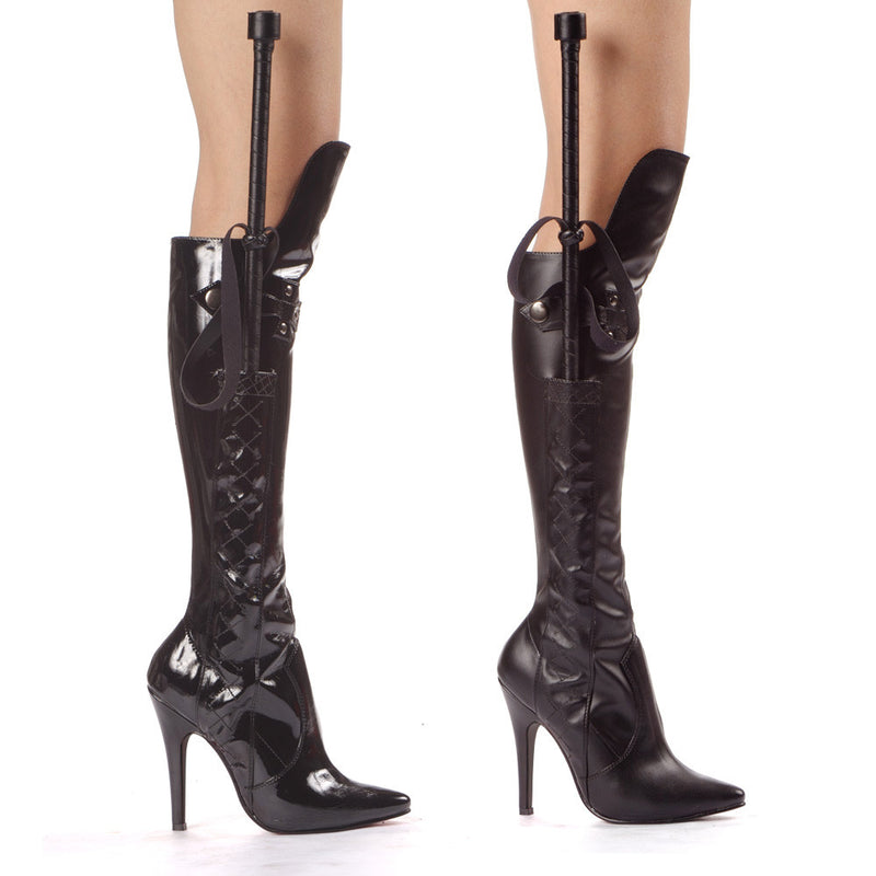 5 Inch Heel Knee Boot With Whip - ElegantStripper