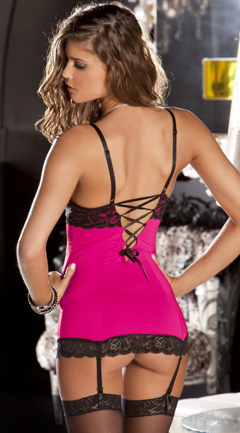 Two Piece Hollywood Chemise and G-String Set