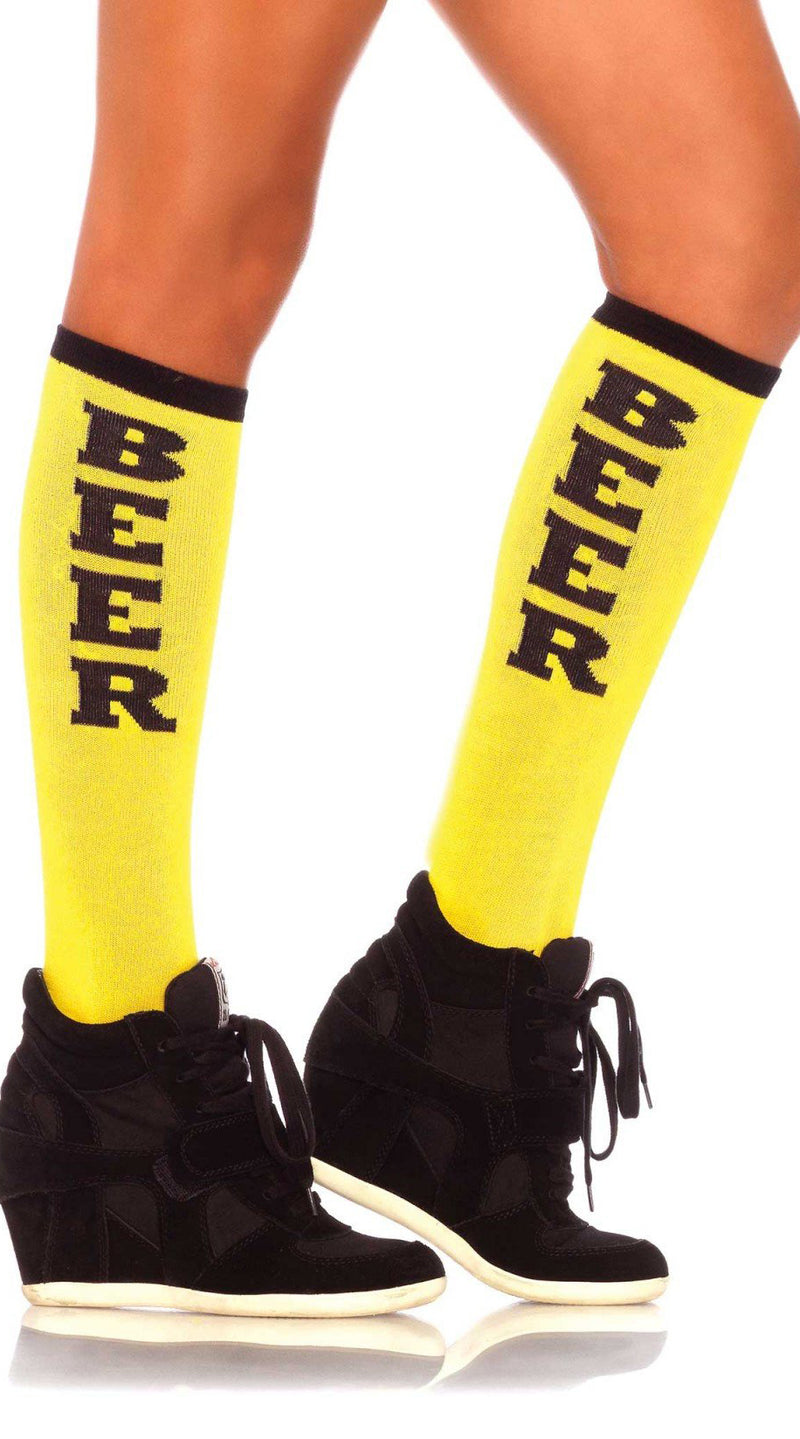 Beer Run Knee High Socks - ElegantStripper