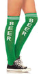 Beer Time Athletic Knee High Socks - ElegantStripper