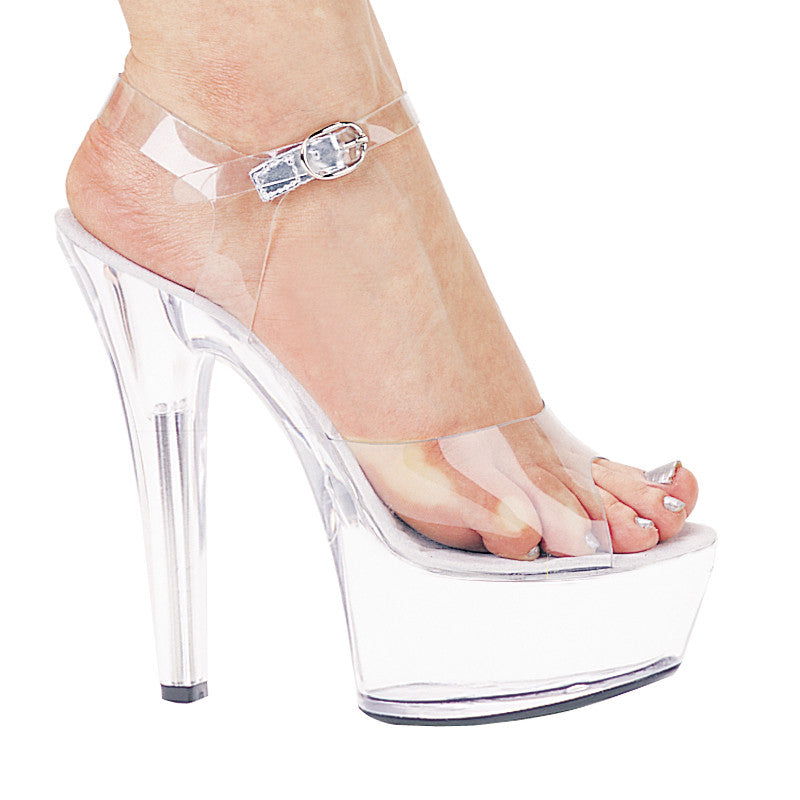 6 Inch Heel Sandal Brook Model - ElegantStripper