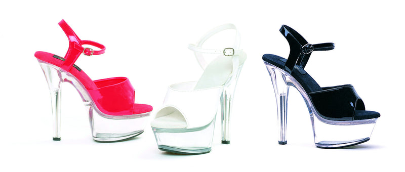6 Inch Heel Sandal with Clear Bottom - ElegantStripper