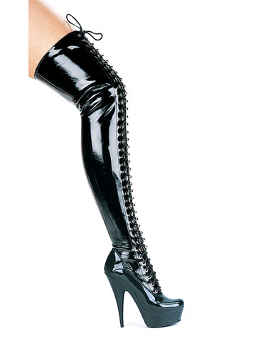 6 Inch Heel Thigh High Boots
