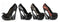 5 Inch Heel Curvacious Pump With Lace & Bow - ElegantStripper