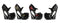 5 Inch Heel Curvacious Ankle Strap Pump with Lace & Bow - ElegantStripper