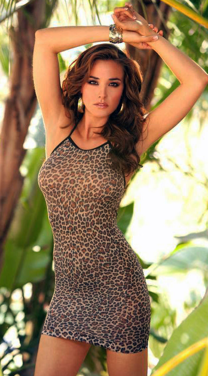 Leopard Slip Mini Dress