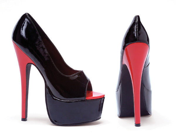 6.5 Inch Heel Stiletto Heel Open Toe Pump - ElegantStripper