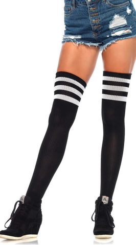 Athletic Ribbed Thigh Highs