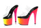 7 Inch Heel 2 Strap Sandal With Rainbow Design - ElegantStripper