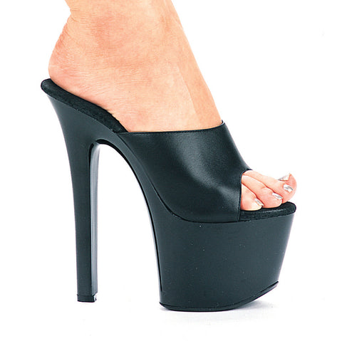 7 Inch Heel Leather Mule
