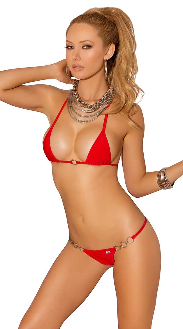 Two Piece Swimwear Set Red