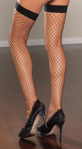 Diamond Fishnet Thigh High