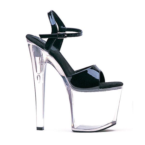 8 Inch Heel Clear Bottom Sandal - ElegantStripper