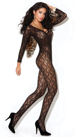 Long Sleeve Lace Bodystocking
