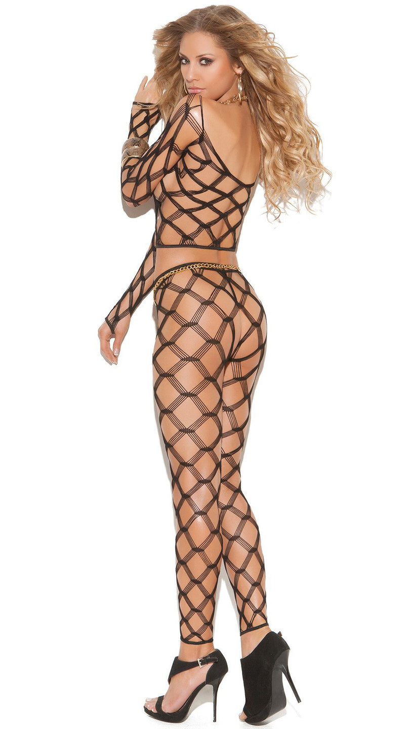 Two Piece Diamond Net Cami Top Set