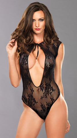 Lace Teddy with Keyhole