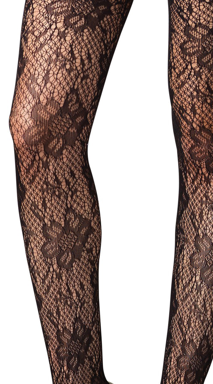Floral Lace V Suspender Bodystocking