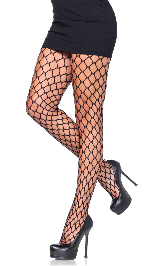 Sharp Edge Scale Net Pantyhose