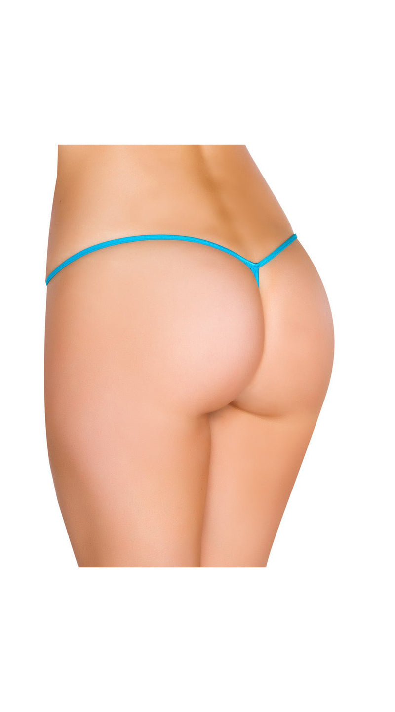Turquoise Tear Drop G-String Bottom