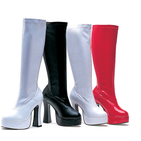 5 Inch Heel Stretch Knee Boots with Inner Zipper