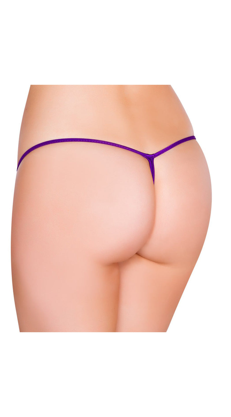 Purple Low Cut G-String Bottom