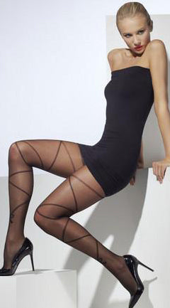 Sheer Tights With Cross And Bow