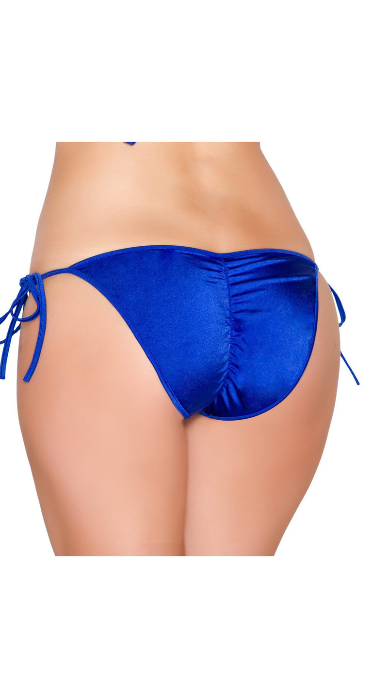 Royal Blue Tie Side Bikini Bottom with Pucker Back Detail