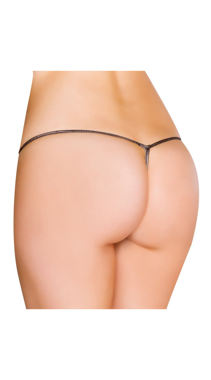 Gunmetal Metallic G-String