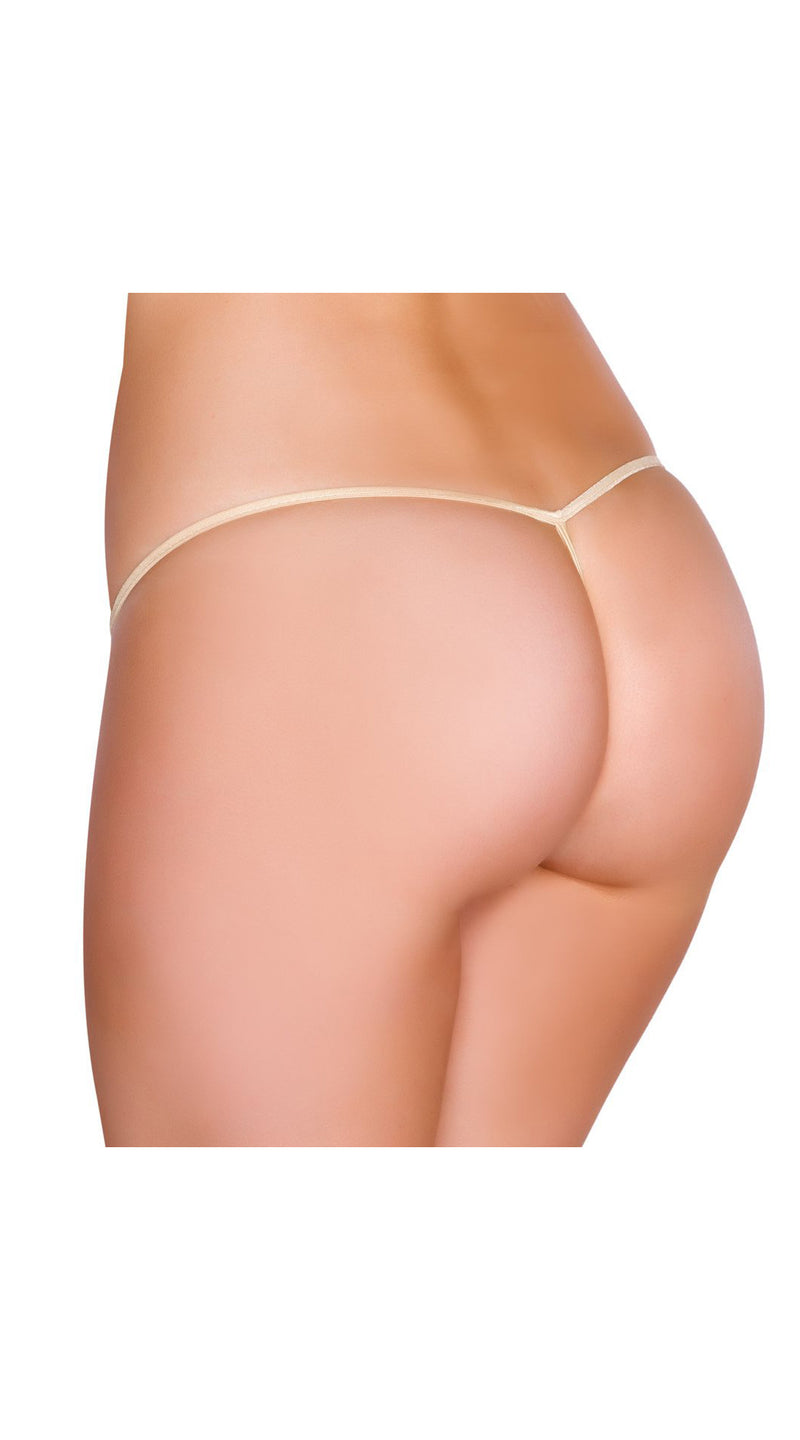 Nude G-String Back Bottom