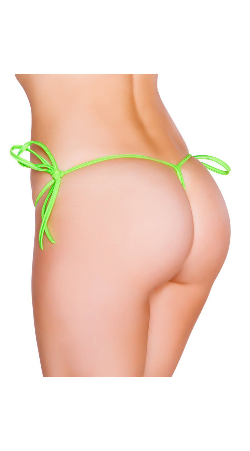 Lime G-String Back Tie Side Bottom